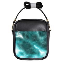 Light Web Colorful Web Of Crazy Lightening Girls Sling Bags