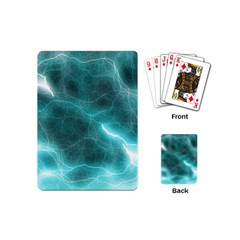 Light Web Colorful Web Of Crazy Lightening Playing Cards (Mini)