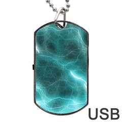Light Web Colorful Web Of Crazy Lightening Dog Tag Usb Flash (two Sides)