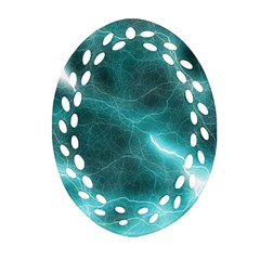 Light Web Colorful Web Of Crazy Lightening Ornament (oval Filigree)
