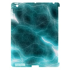 Light Web Colorful Web Of Crazy Lightening Apple iPad 3/4 Hardshell Case (Compatible with Smart Cover)