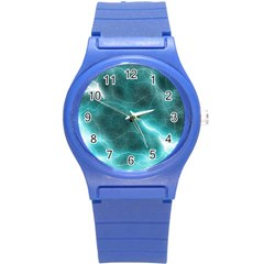 Light Web Colorful Web Of Crazy Lightening Round Plastic Sport Watch (S)