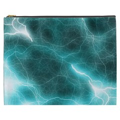 Light Web Colorful Web Of Crazy Lightening Cosmetic Bag (XXXL)