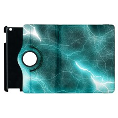 Light Web Colorful Web Of Crazy Lightening Apple iPad 2 Flip 360 Case