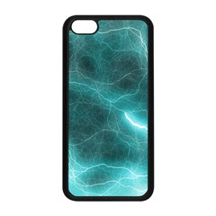 Light Web Colorful Web Of Crazy Lightening Apple iPhone 5C Seamless Case (Black)