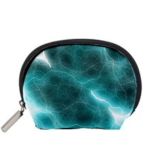 Light Web Colorful Web Of Crazy Lightening Accessory Pouches (Small)