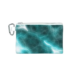 Light Web Colorful Web Of Crazy Lightening Canvas Cosmetic Bag (s)