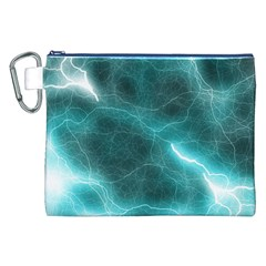 Light Web Colorful Web Of Crazy Lightening Canvas Cosmetic Bag (XXL)