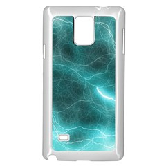 Light Web Colorful Web Of Crazy Lightening Samsung Galaxy Note 4 Case (white)