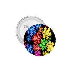Colourful Snowflake Wallpaper Pattern 1 75  Buttons