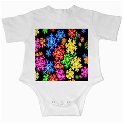 Colourful Snowflake Wallpaper Pattern Infant Creepers