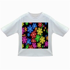 Colourful Snowflake Wallpaper Pattern Infant/Toddler T-Shirts