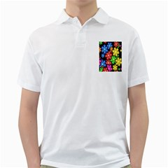 Colourful Snowflake Wallpaper Pattern Golf Shirts
