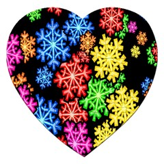 Colourful Snowflake Wallpaper Pattern Jigsaw Puzzle (heart)