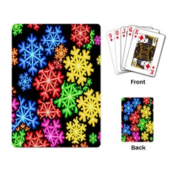 Colourful Snowflake Wallpaper Pattern Playing Card
