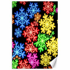 Colourful Snowflake Wallpaper Pattern Canvas 20  x 30