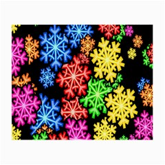 Colourful Snowflake Wallpaper Pattern Small Glasses Cloth (2-Side)