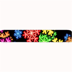 Colourful Snowflake Wallpaper Pattern Small Bar Mats