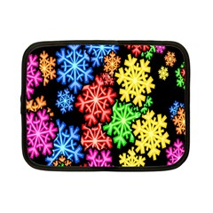 Colourful Snowflake Wallpaper Pattern Netbook Case (small)