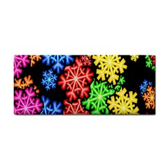 Colourful Snowflake Wallpaper Pattern Cosmetic Storage Cases