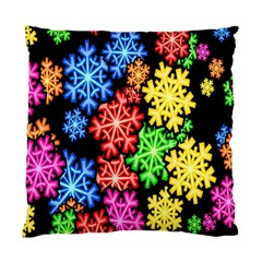 Colourful Snowflake Wallpaper Pattern Standard Cushion Case (One Side)