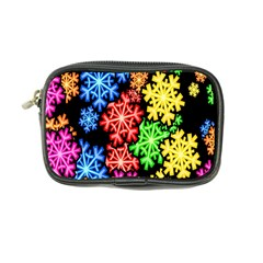 Colourful Snowflake Wallpaper Pattern Coin Purse
