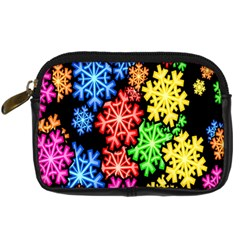Colourful Snowflake Wallpaper Pattern Digital Camera Cases