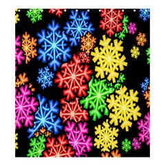 Colourful Snowflake Wallpaper Pattern Shower Curtain 66  X 72  (large)