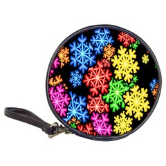 Colourful Snowflake Wallpaper Pattern Classic 20-CD Wallets