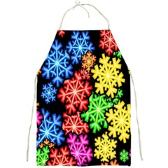 Colourful Snowflake Wallpaper Pattern Full Print Aprons