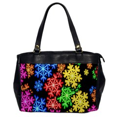 Colourful Snowflake Wallpaper Pattern Office Handbags
