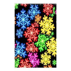 Colourful Snowflake Wallpaper Pattern Shower Curtain 48  x 72  (Small)