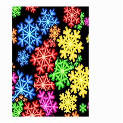 Colourful Snowflake Wallpaper Pattern Small Garden Flag (Two Sides)