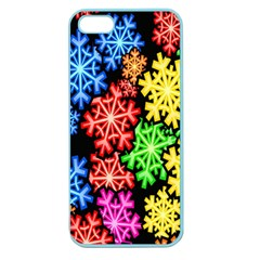 Colourful Snowflake Wallpaper Pattern Apple Seamless Iphone 5 Case (color)
