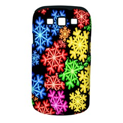 Colourful Snowflake Wallpaper Pattern Samsung Galaxy S III Classic Hardshell Case (PC+Silicone)