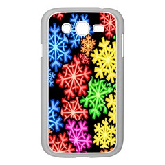 Colourful Snowflake Wallpaper Pattern Samsung Galaxy Grand DUOS I9082 Case (White)