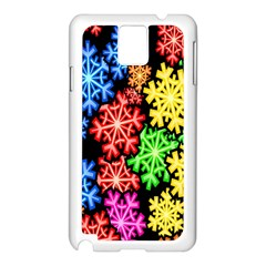 Colourful Snowflake Wallpaper Pattern Samsung Galaxy Note 3 N9005 Case (white)