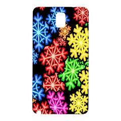 Colourful Snowflake Wallpaper Pattern Samsung Galaxy Note 3 N9005 Hardshell Back Case