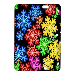 Colourful Snowflake Wallpaper Pattern Kindle Fire HDX 8.9  Hardshell Case