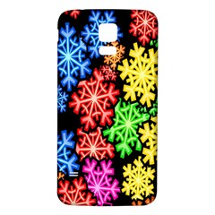 Colourful Snowflake Wallpaper Pattern Samsung Galaxy S5 Back Case (white)