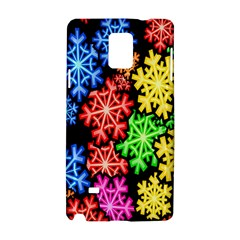 Colourful Snowflake Wallpaper Pattern Samsung Galaxy Note 4 Hardshell Case