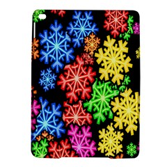 Colourful Snowflake Wallpaper Pattern iPad Air 2 Hardshell Cases