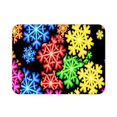 Colourful Snowflake Wallpaper Pattern Double Sided Flano Blanket (mini)