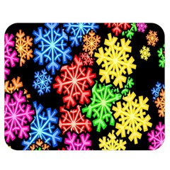 Colourful Snowflake Wallpaper Pattern Double Sided Flano Blanket (medium)