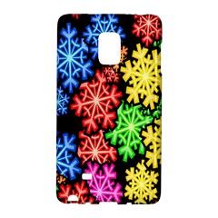 Colourful Snowflake Wallpaper Pattern Galaxy Note Edge