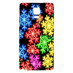Colourful Snowflake Wallpaper Pattern Galaxy Note 4 Back Case