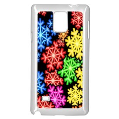 Colourful Snowflake Wallpaper Pattern Samsung Galaxy Note 4 Case (white)