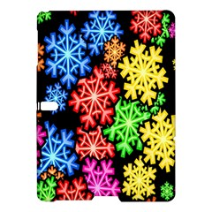 Colourful Snowflake Wallpaper Pattern Samsung Galaxy Tab S (10 5 ) Hardshell Case