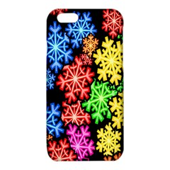 Colourful Snowflake Wallpaper Pattern iPhone 6/6S TPU Case