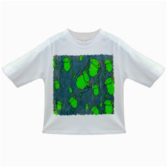 Cartoon Grunge Frog Wallpaper Background Infant/toddler T Shirts